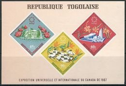 Togo, EXPO 1967, Montreal, Flowers Block - 1967 – Montreal (Kanada)