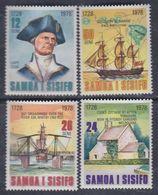 Samoa N° 432 / 35 XX 250ème Anniv. De La Naissance Du Capitaine Cook, Les 4 Valeurs Sans Charnière, TB - Samoa