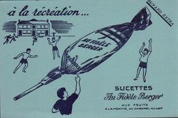 Ancien BUVARD Illustré SUCETTES Au Fidèle BERGER - Buvards, Protège-cahiers Illustrés