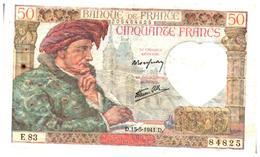 Billets > France > 50 Francs 1941 - 50 F 1940-1942 ''Jacques Coeur''