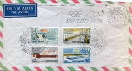 44309 Italia, Special Postmark Cortina Winter Olympic 1956 With 2 Differents Postmarks, Cortina Centro Stampa - Winter 1956: Cortina D'Ampezzo