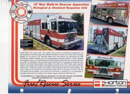 Catalogue OVERLAND HORTON Information Sheet 2010s Fire Rescue 1/32 1/48 - Boeken En Tijdschriften