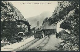 Route De Thônes - DINGY - La Gare Et Le Défilé - A. Gardet N° 313 - Voir 2 Scans - Dingy-Saint-Clair
