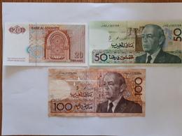 Lot De 3  Billets Marocains - Marocco