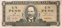 Cuba 1 Peso, P-94a (1961) - Fine + - CHE Signature - Kuba