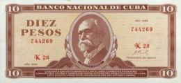 Cuba 10 Pesos, P-104a (1968) - AUNC - Cuba
