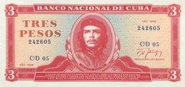 Cuba 3 Pesos, P-107b (1988) - UNC - Cuba
