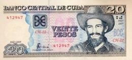 Cuba 20 Pesos, P-122b (2005) - UNC - Cuba