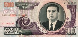 North Korea 5.000 Won, P-56A (2007) - UNC - 95th Birthday Kim Il Sung - Corea Del Nord