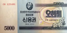 North Korea 5.000 Won, P-NL (2003) - UNC - Bond Note - Korea, North