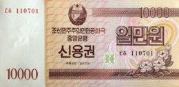 North Korea 10.000 Won, P-NL (2003) - UNC - Bond Note - Korea, North