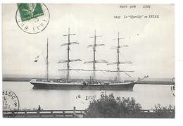 """Cpa...VIEUX PORT..(eure)...le """"Quevilly"""" En Seine....quatre Mats....1913... - Voiliers"""