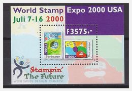 SURINAME, 2000 World Stamp Expo USA S/s MNH - Surinam