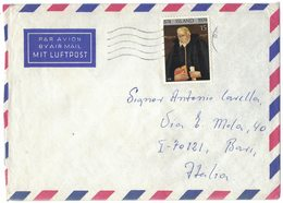 YN573  Iceland Cover Sent Air Mail To Italy 1974  Single Franked - 1944-... Repubblica