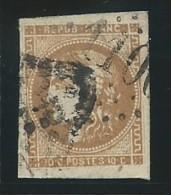 FRANCE: Obl., N° YT 43Ac, Rep 1, Bistre Foncé, Signé, TB - 1870 Emission De Bordeaux