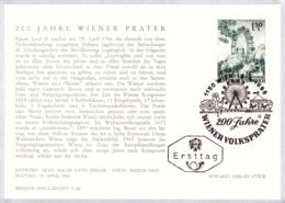1966 200 Jahre Wiener Volksprater FDC Karte (ANK 1234, Mi 1204) - FDC