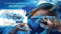 GUINEA 2015 SHEET PREHISTORIC WATER ANIMALS DINOSAURS PREHISTORIC ANIMAUX PREHISTORIQUES AQUATIQUES DINOSAURES Gu15317b - Guinea (1958-...)