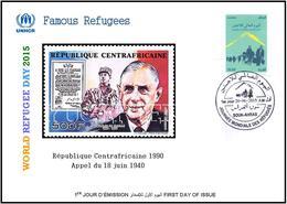 ARGHELIA 2015 - FDC - World Refugee Day Réfugiés Flüchtlinge De Gaulle Día Mundial Del Refugiados Refugees - Refugees