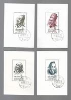 Chine - Savants De L'ancienne Chine - Blocs Feuillets 4 à 7 Oblitérés - 1949 - ... People's Republic