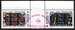 FRANCE 2175 2176 Issus De Carnet Avec Gomme Croix Rouge Fernand Léger Eglise Du Sacré-Cœur D'Audincourt . - Oblitérés