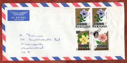 Luftpost, Dienstbrief, Hibiskus U.a., Rarotonga Cook Islands Nach Auckland 1976? (71765) - Cook Islands