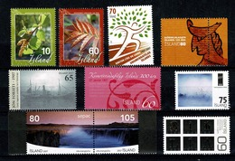 Island - Year 2007 (Yv. 1078/1113**) + 2 Blocs + 2 Booklets/carnets + Carnet De Prestige Glaciers D'Island (5 Scans) - Full Years