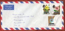 Luftpost, Dienstbrief, Hibiskus U.a., Rarotonga Cook Islands Nach Auckland 1976 (71766) - Cookinseln