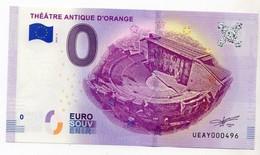 2018-2 BILLET TOURISTIQUE FRANCE 0 EURO SOUVENIR N°UEAY000496 THEATRE ANTIQUE D'ORANGE - Privéproeven