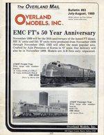 Catalogue OVERLAND MODELS Mail Bulletin 83 July-August 1989 - Boeken En Tijdschriften