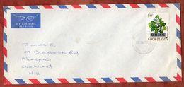 Luftpost, Dienstbrief, Gardenia, Rarotonga Cook Islands Nach Auckland 1977 (71767) - Cookinseln