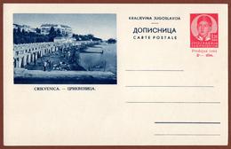 YUGOSLAVIA-CROATIA, CRIKVENICA, 3rd EDITION For INTERNATIONAL TRAFFIC POSTAL CARD RRR!! - Ganzsachen