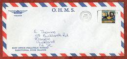 Luftpost, Rowland Hill,  Avarua Cook Islands Nach Auckland 1980 (71768) - Cookinseln