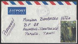 YN575  Polynesie Francaise 1975 Lettre Fast Post Pour Papeete YT N°461 - Polinesia Francese