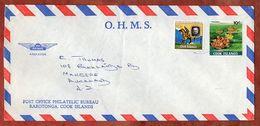Luftpost, Rowland Hill U.a.,  Avarua Cook Islands Nach Auckland 1980? (71770) - Cookinseln