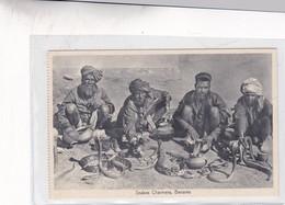 SNAKES CHARMERRS. BENARES. SAEED BROS. VINTAGE FOLK ETHNIC CPA CIRCA 1930s  - BLEUP - India