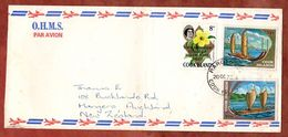 Luftpost, Beendigung Nukleartests U.a., Rarotonga Cook Islands Nach Auckland 1973 (71771) - Cookinseln