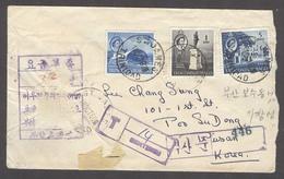 KOREA. 1960 (18 Oct). British Commonwealth / Trinidad & Tobago - Pusan. Fkd Env + Taxed + Korean Tax Marks. Reverse 30 N - Corea (...-1945)