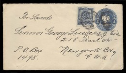 MEXICO - Stationery. C.1900 (7 Dec). DF - USA. 5c Blue Stat Env + Adtl. VF. - Mexico