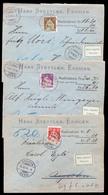 Switzerland - XX. 1910 (2 March). Ersigen - Hernigen. Reg Env With 20c, 25c And 30c. Lovely Usages. - Switzerland