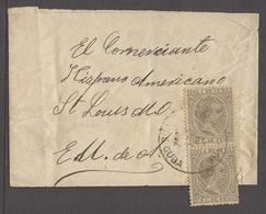 CUBA. 1892. Habana - USA. Complete Wrapper Fkd 1c Peso Vert Pair Tied Cds. Scarce So. - Non Classés