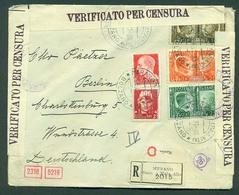 Italy - XX. 1941 (28 June). Merano Maia Alta - Germany (3 July). Reg Multifkd Env. Fine. - Italien