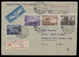 LATVIA. 1951 (19 Dec). Russian Occup. Liepaja - USA (29 Dec). Reg Air Multifkd Env. VF. Comm Issue. - Lettland
