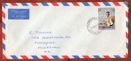Luftpost, Silberjubilaeum Queen, Rarotonga Cook Islands Nach Auckland 1977 (71772) - Cookinseln