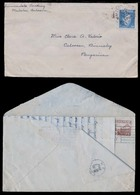 PHILIPPINES. 1944 (24 July). Manila - Malolos (22 Dec). Malolos - Caloocan/ Binmaley. Doble Reverse Used Fkd Both Sides - Philippines