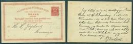 ICELAND. C.1891 (12 Nov). Seydisfjordur - Stavanger. 10 Aur Red Stat Card. Very Early Usage. - Islande