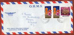 Luftpost, Weihnachten U.a., Rarotonga Cook Islands Nach Auckland 1982 (71775) - Cookinseln