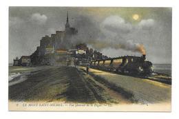 50/ MANCHE...LE MONT SAINT MICHEL. Vue Générale De La Digue... TRAIN - Le Mont Saint Michel