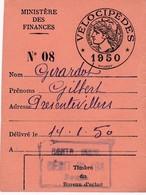 Taxe Fiscale Vélocipède 1950 - Revenue Stamps