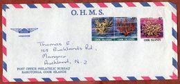 Luftpost, Korallen, Nicht Entwertet, Rarotonga Cook Islands Nach Auckland 1980? (71776) - Cookinseln