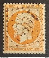 1862 - 1871, Emperor Napoléon Lll, 40c, Orange, France, Empire Française - 1862 Napoleon III